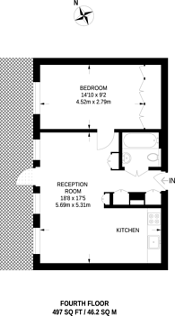 Large floorplan for Clipstone Street, Fitzrovia, W1W