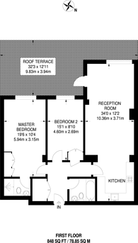 Large floorplan for Percy Laurie House, Putney, SW15