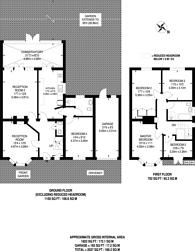 Large floorplan for Elmwood Avenue, Kenton, HA3