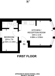 Large floorplan for Golders Green Road, Golders Green, NW11