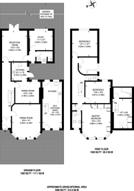 Large floorplan for Stanhope Avenue, Finchley, N3