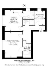 Large floorplan for Adamson Road, Swiss Cottage, NW3