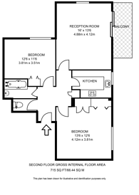 Large floorplan for Warwick Drive, Putney, SW15