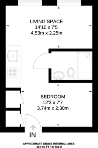 Large floorplan for Indescon Square, Canary Wharf, E14
