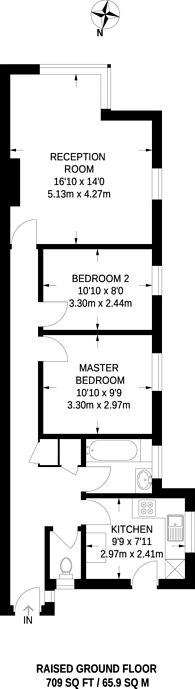 Large floorplan for The Woodlands, Upper Norwood, SE19