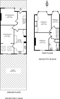 Large floorplan for Nimrod Road, Furzedown, SW16