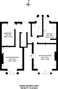 Large floorplan for Boyne Road, Lewisham, SE13