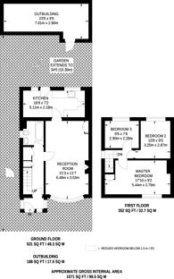 Large floorplan for Battersby Road, Catford, SE6