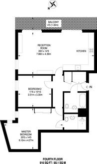 Large floorplan for Dalston Square, Dalston, E8