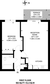 Large floorplan for New River Village, Crouch End, N8