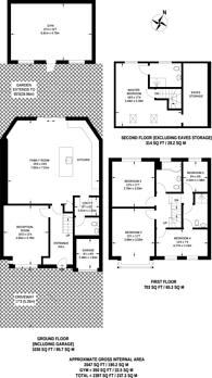 Large floorplan for Farm Way, Worcester Park, KT4