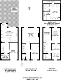 Large floorplan for Lynwood Road, Thames Ditton, KT7