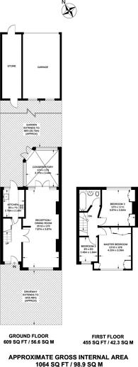 Large floorplan for Meopham Road, Streatham Vale, CR4