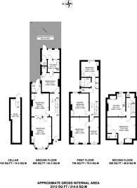 Large floorplan for Bournevale Road, Streatham, SW16