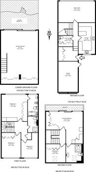Large floorplan for Lansdowne Close, Wimbledon, SW20