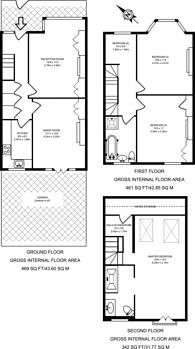 Large floorplan for Sandringham Avenue, Wimbledon, SW20