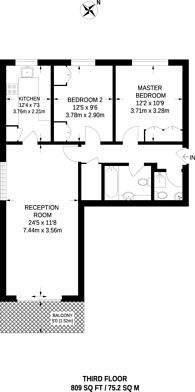 Large floorplan for Woolmead Avenue, Hendon, NW9