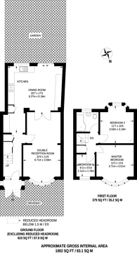 Large floorplan for Adderley Road, Harrow Weald, HA3