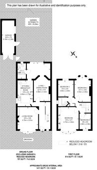 Large floorplan for Southfield Park, North Harrow, HA2