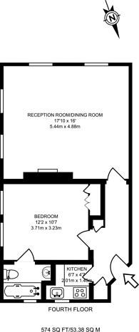 Large floorplan for Beaufort Street, Chelsea, SW3