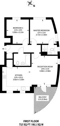 Large floorplan for Du Cane Road, Shepherd's Bush, W12