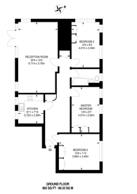 Large floorplan for Wimbledon Hill Road, Wimbledon, SW19