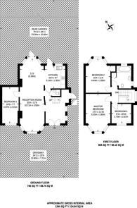 Large floorplan for Edgeworth Avenue, Hendon, NW4