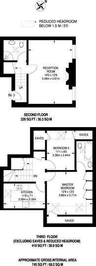 Large floorplan for Etchingham Park Road, Finchley, N3