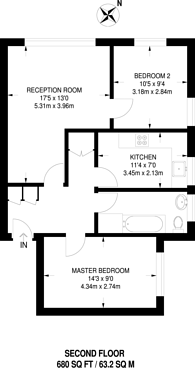 Large floorplan for Epsom Road, Croydon, CR0