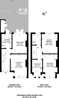 Large floorplan for Davidson Road, Croydon, CR0