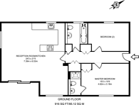 Large floorplan for Green Lanes, Winchmore Hill, N21