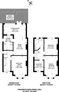 Large floorplan for Green Lane, Norbury, SW16