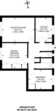 Large floorplan for Jubilee Street, Stepney, E1