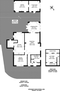 Large floorplan for Pinewood Avenue, New Haw, KT15