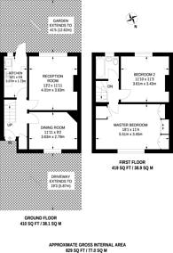 Large floorplan for Boyland Road, Bromley, BR1