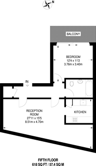 Large floorplan for Clere Street, Shoreditch, EC2A