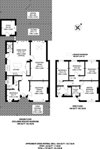 Large floorplan for Grand Avenue, Surbiton, KT5