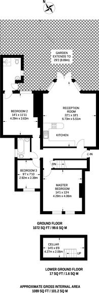 Large floorplan for Oakdale Road, Streatham Common, SW16
