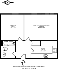 Large floorplan for Plumbers Row, Aldgate, E1
