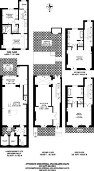 Large floorplan for South Terrace, South Kensington, SW7