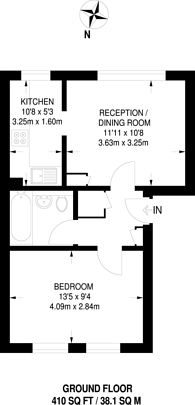Large floorplan for Cromwell Close, Acton, W3