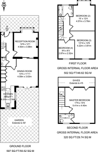 Large floorplan for Southfield Road, Acton Green, W4