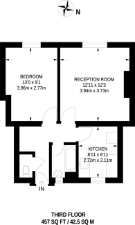 Large floorplan for Coate Street, Shoreditch, E2