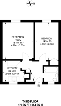 Large floorplan for Sherbourne House, Pimlico, SW1V