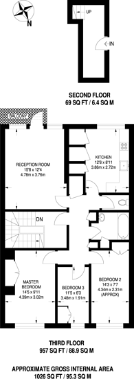 Large floorplan for Yates Court, Willesden Green, NW2