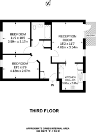 Large floorplan for Church Road, Islington, N1