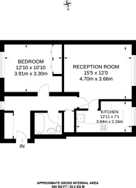 Large floorplan for Kirk Rise, Sutton, SM1