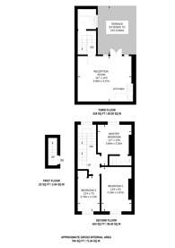 Large floorplan for Great Percy Street, Clerkenwell, WC1X