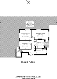 Large floorplan for Denmark Gardens, Carshalton, SM5