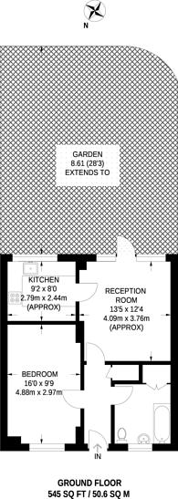 Large floorplan for Camel Road, Docklands, E16